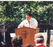 My Husband, Kosta, Speaking at Jason's Memorial Service