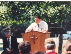 My Husband, Kosta, Speaking at Jason's Memorial Service