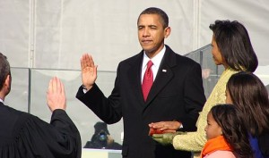 Obama Takes the Oath of Office January 20 2009