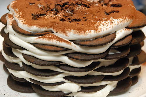 Chocolate Wafer Cake With Whipped Cream