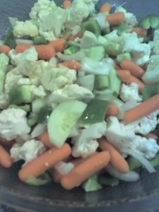 big salad chunks