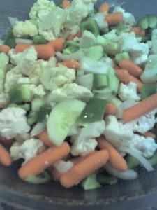 big salad chunks