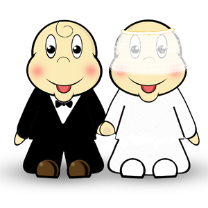 Cute and Quirky Bride & Groom