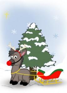 Dinky with his Christmas Sleigh