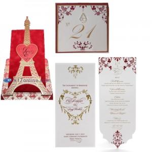 Eva Longoria & Tony Parker Wedding Stationery