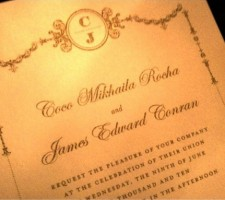 Model Coco Rocha's Wedding Invitation
