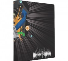 music themed binders for school