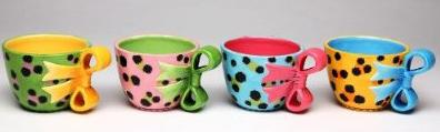 Leopard Print Teacups