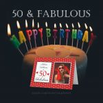 50 & Fabulous Birthday Party Cards and Gifts with Polka Dots