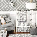 Gray Crib Bedding and Nursery Decor
