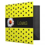 Polka Dot School Binders
