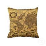World Maps Decorative Throw Pillows