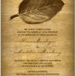 Brown Earth Tone Autumn Wedding Invitations