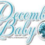 December Birthstone Color: Blue!