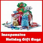 Inexpensive Drawstring Holiday Gift Bags