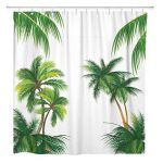 Palm Tree Shower Curtains For a Lush Bath
