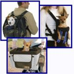 Pet Back Packs, Front Carriers and Bicycle Baskets