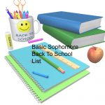 Basic Sophomore Back To  School Supply List