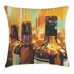 Wine themed throw pillows
