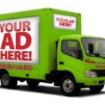 Strange Green Trucks: Mobile Street Truck Advertising